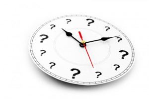 question mark clock